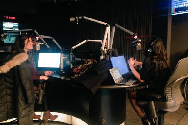 Dr. Jess with Fred and Mel at The Edge studios