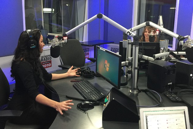 Dr. Jess and Barb Di Giulio at NEWSTALK 1010 studios