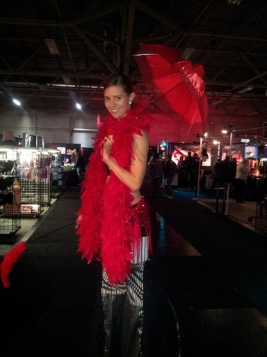 Looking fabulous at the Edmonton Taboo Show