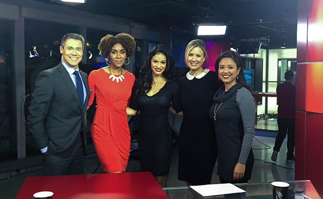 Jess with the hosts of Global's The Morning Show